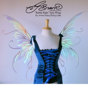 "Official Amy Brown ""Bubble Rider"" Fairy Wings by FancyFairy.com"